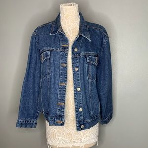 VINTAGE BILL BLASS DENIM JEAN JACKET 100% COTTON